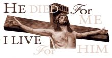 He Died For Me Christ On Cross