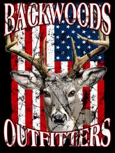 Backwoods Buck w/American Flag