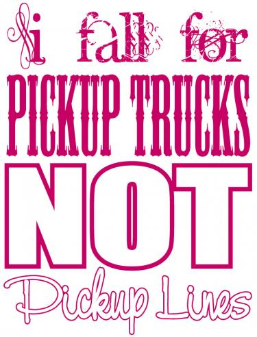 I Fall For Pickup Trucks..